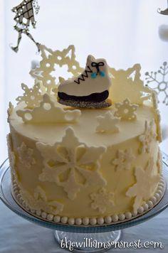 Ice Skating Cake The Williamson's Nest