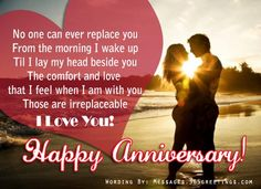 Anniversary Messages For Wife Messages, Greetings and Wishes - Messages, Wordings and Gift Ideas