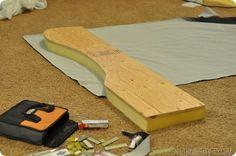 DIY Wingback Headboard Tutorial with FREE pattern