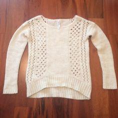 Chunky high low sweater Beautiful wool blend chunky sweater. Scoop neck. Aeropostale Sweaters V-Necks