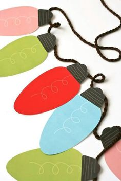 Jumbo Christmas Lights Printable Garland – Paging Supermom - Craft World Christmas Crafts For Kids, Christmas Activities, Christmas Projects, Winter Christmas, Holiday Crafts, Holiday Fun, Christmas Holidays, Christmas Ideas, Merry Christmas