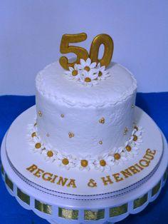 Bolo 50 anos casados