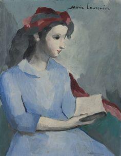 """La lecture"", by Marie Laurencin"