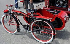 J.C. Higgins bicycle with side car
