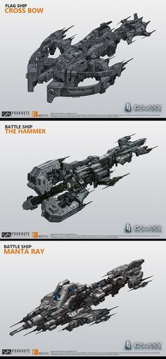 ArtStation - Galaxy Alliance ship design 1, puz lee