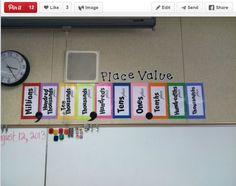 Place value poster Math 5, Guided Math, Teaching Math, Math Teacher, Teaching Ideas, Math Literacy, Teacher Stuff, Place Value Poster, Math Place Value