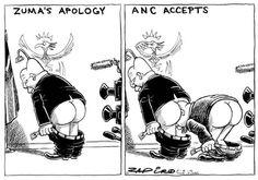 Zapiro on Zuma: Was that an apology or a re-BUTT-al?  Africartoons