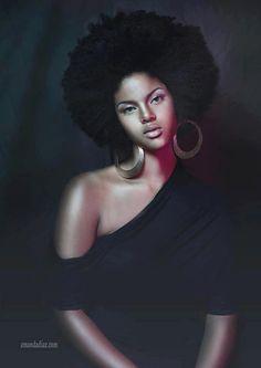 blackfashionstars:  By Amanda Diaz  Natural beauty