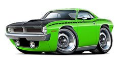 muscle car caricatures | Clothing, Shoes & Accessories > Unisex Clothing, Shoes & Accs > Unisex ...