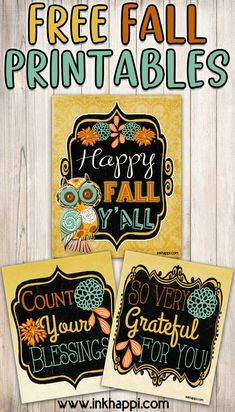 These pretty 8x10 free fall prints would look great framed! Free Printable Art, Gift Tags Printable, Kid Friendly Art, Fall Festival Games, Fall Crafts For Adults, Free Artwork, Autumn Illustration, Fall Gifts, Happy Fall Y'all