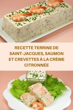 Recipe Saint-Jacques terrine salmon and shrimps with lemon cream Healthy Cake Recipes, Healthy Recipes On A Budget, Healthy Recipe Videos, Healthy Meal Prep, Meat Recipes, Vegetarian Recipes, Flan, Sheet Cake Recipes, Entrees