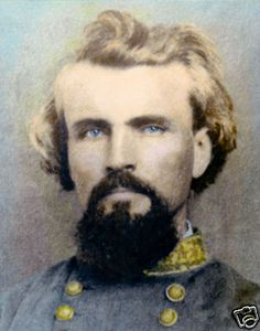 General Nathan Bedford Forrest 1862 Civil War Photo This General survived having more than 15 horses killed beneath him! Can't you hear a conversation in the horse paddock oh my god Forrest needs another one oh no it's Fred bye Fred!