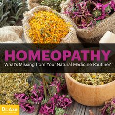 Homeopathy - Dr. Axe http://www.draxe.com #health #holistic #natural