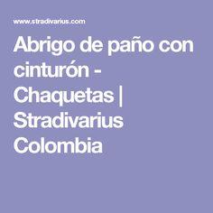 Abrigo de paño con cinturón - Chaquetas | Stradivarius Colombia