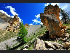 Au col d'Izoard, la nature est d'une beauté sauvage (Hautes-Alpes, France).
