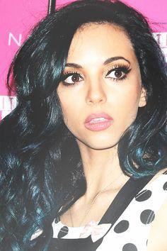 Jade Thirlwall - pitch black hair + makeup