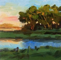 """Daily Paintworks - """"HAPPY HOUR"""" - Original Fine Art for Sale - © Tom Brown"""