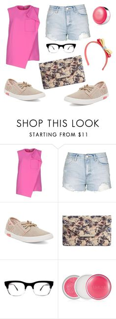 """Summer Fun"" by thereclusiveblogger ❤ liked on Polyvore featuring Balenciaga, Topshop, Roxy, Style & Co., Retrò, Clinique, RED Valentino, men's fashion and menswear"