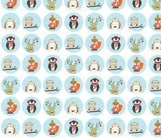 Christmas Critters fabric by katherinelenius on Spoonflower - custom fabric