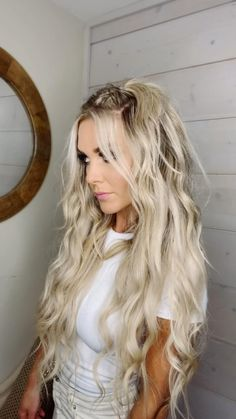 Long Wavy Hair, Wedding Hairstyles For Long Hair, Summer Hairstyles, Hairstyles Videos, Hair Wedding, Braid Hairstyles, Hairstyles For Going Out, Clubbing Hairstyles, Beauty