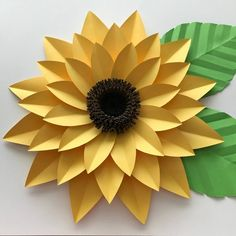 Best 12 SVG DXF PNG Petal 44 Sunflower Paper Flower Template Diy Cricut and Silhouette machines ready 2 center components included Paper Flowers by TheCraftySagAnnie on Etsy – Page 789396640917450145 Sunflower Template, Flower Petal Template, Pot Mason Diy, Mason Jar Crafts, Paper Sunflowers, Paper Flowers Diy, Origami Flowers, Fleurs Diy, Summer Crafts For Kids