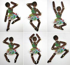 Danseuses articulées en carton
