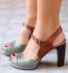 a886814573c2 These two tone sandals are versatile and ever so pretty and practical.