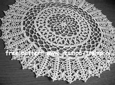Rice stitch Delight doily free vintage crochet doilies patterns