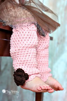 Baby Girls Leg Warmers Crochet Leg Warmers Custom by TinyTeapots, $20.00