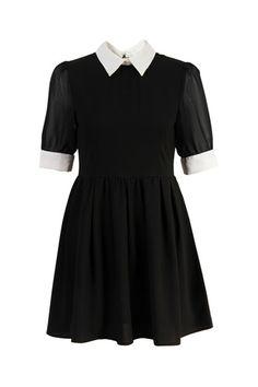 Retro Lapel Neck Black Dress [NCSKM0071] - $40.99 : ($20-50) - Svpply