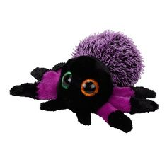 sermoido TY Beanie Boos Creeper the Purple Spider Plush Regular Stuffed Animal Collectible Doll Toy Without Heart Tags(China) Ty Beanie Boos, Beanie Babies, Purple Halloween, Fete Halloween, Halloween Spider, Ty Animals, Ty Stuffed Animals, Halloween Beanie Boos, Beanie Boo Birthdays