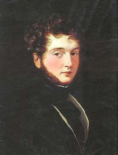 Alfred Guillaume Gabriel, Comte d'Orsay by George Hayter, Beau Brummel's friend and a famous dandy from the early until mid-19th century.