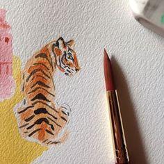 Tiger illustration -- caitlinmcgauley (Caitlin McGauley) on Instagram
