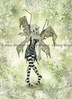 I'm so confused right now. I love Amy Brown art and zombies, but when did she do a zombie fairy?!