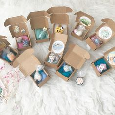 Polymer clay charms in boxes!
