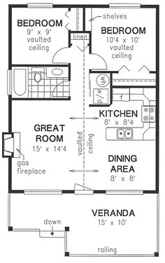1000 images about small and prefab houses on pinterest floor plans tiny house and square feet - Houses bedroom first floor fit needs ...