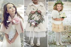 Cosy and Cute - Winter Flower Girl Outfits