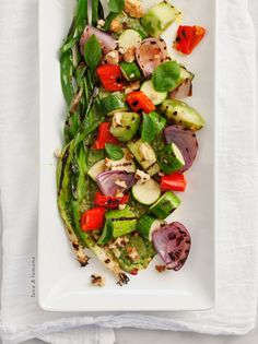 Grilled veggies with basil miso recipe - Soooo good! But doesn't need the extra salt. The Miso gives it the perfect amount.
