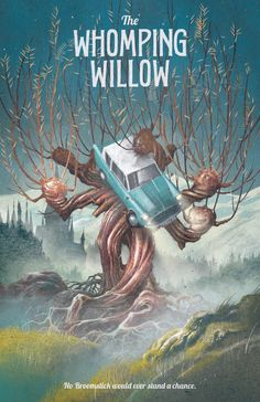 Harry Potter Poster Whomping Willow Travel by TheGreenDragonInn, $16.00