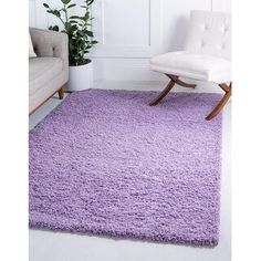 Find Unique Loom Solo Solid Shag Collection Modern Plush Lilac Area Rug 0 x online. Shop the latest collection of Unique Loom Solo Solid Shag Collection Modern Plush Lilac Area Rug 0 x from the popular stores - all in one Fresco, Purple Rooms, Shed Colours, Solid Rugs, Purple Area Rugs, Buy Rugs, Online Home Decor Stores, Room Rugs, Modern