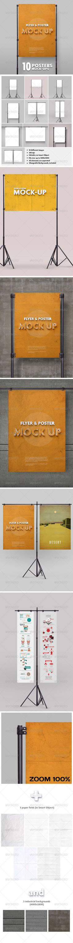 Poster Mockup vol.2 / 10 Different Images #GraphicRiver