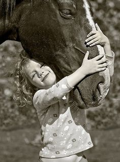 Kiss, kiss. The love between a girl and her horse ❤
