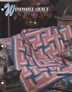 Windmill Quilt Annie's Attic Crochet Quilt & Afghan