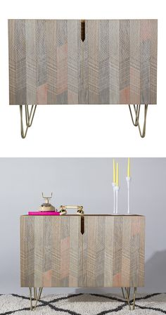 Look for a slight feathering touch in the sweet design of this one. The Heathered Feathers Credenza offers a subtle presentation of colors and patterns and a near-3D accordion effect. With charming hai...  Find the Heathered Feathers Credenza, as seen in the Labor Day Weekend Sales: Furniture Collection at http://dotandbo.com/collections/labor-day-weekend-sales-furniture?utm_source=pinterest&utm_medium=organic&db_sku=131830