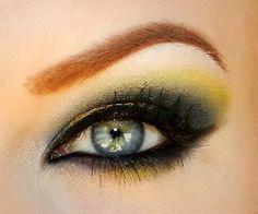 Greens, blues, and Liquid Gold! – Makeup Geek: Eye Shadows- Corrupt, Ocean Breeze, Peacock, Pixie Dust, Shimma Shimma, Shimmermint, Liquid Gold Gel Liner- Immortal