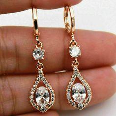 3.45 Ct Round Diamond Feather Dangle Hook Earrings 14k Rose Gold GP Wedding Gift