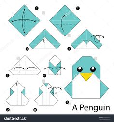 Simple origami Dress Step by Step Instructions . Fresh Simple origami Dress Step by Step Instructions . Step by Step Instructions How to Make origami A Penguin Origami Instructions For Kids, Origami Easy Step By Step, Easy Origami For Kids, How To Make Origami, Useful Origami, Origami Tutorial, Easy Oragami, Instruções Origami, Origami Dragon