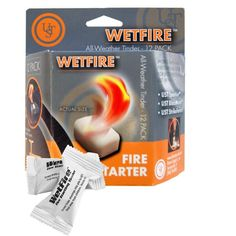 2 Packages of 12 WetFire Fire Starter Tinders by Ultimate Survival Technologies UST. 2 Packages of 12 WetFire Fire Starting Tinders. Burns Wet or Dry. Survival Food, Outdoor Survival, Survival Skills, Safety Pictures, To Build A Fire, Camping And Hiking, Camping Gear, Hiking Gear, Backpacking