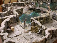 Wonderful cavernous landscape for dungeon crawls (courtesy of Dwarven Forge)