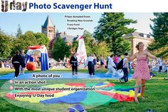 Participate in this years #MyUDay Photo Scavenger Hunt on September 16th! Rules: Students must Instagram a photo that includes themselves in each of the 3 categories: Students must include the hashtag: #MyUDay in each of the photos in order to enter the photo scavenger hunt. Three winners will be chosen with the best overall photos.
